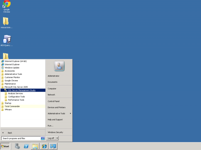 Otvorenie SQL manažment konzoly